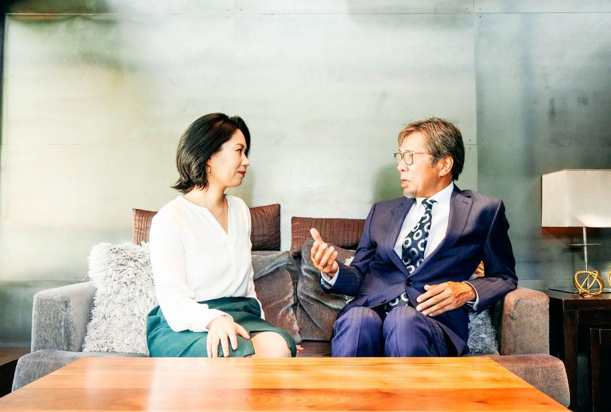 櫻井とOliviAの対談