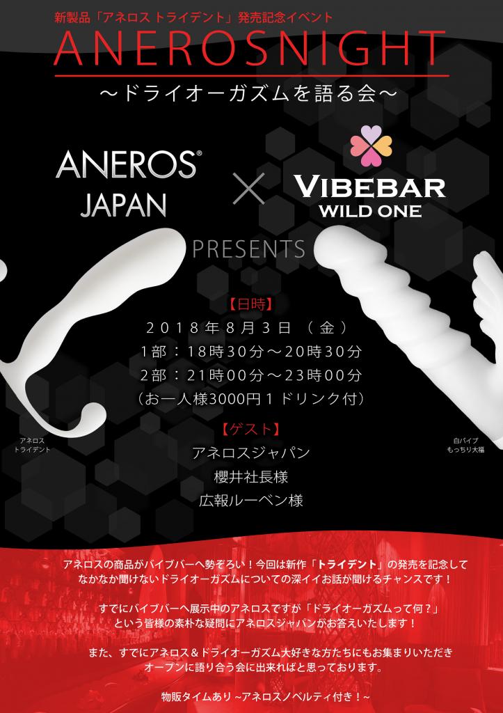 ANEROS JAPAN X WILD ONE タイアップのチラシ